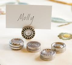 table top place card holders i think i can do this with some buttons for the home pinterest