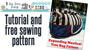 nautical bags sew an expanding nautical tote bag pt 1