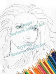 coloring pages marianne goodell artist