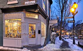 making of christmas eve at the henri julien bookstore in montreal