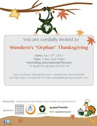 wanderu s orphan thanksgiving free feast for students