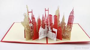 new york city skyline in pop up card greeting card 3d gift card