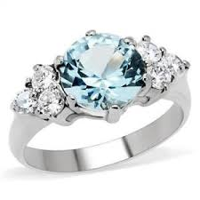 blue wedding rings 3ct solitaire engagement russian sim blue diamond wedding