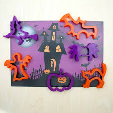 haunted halloween dough mat and cutters by the dotty dough factory