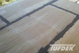 vinyl cement based deck patch for tufdek waterproof decks