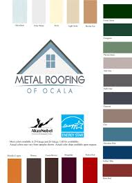 Valspar Colour Chart Metal Roofing Of Ocala Metal Roofing Metal Roofing Ocala