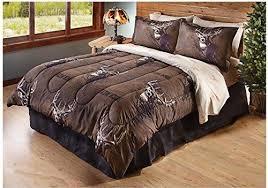 buck deer themed comforter set outdoor cabin bedding
