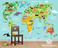 children s world map 2 wall murals children s world map 2