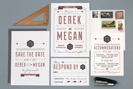 Wedding Invitation Suite Mid Century Style Wedding Invitations By Love Vs Design