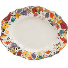 the pioneer timeless floral 21 serving platter walmart