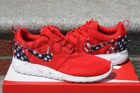American Flag Shoes Shipping Nike Roshe Run Red Marble American Flag Pride Print Custom