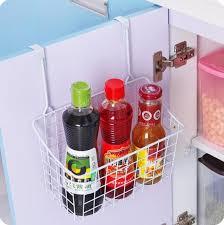 Cabinet Door Basket Iron Kitchen Cabinet Door Hanging Basket Multifunctional Tableware