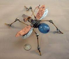 Metal Bugs Garden Decor Recycled Material Critters By Glass And Garden Yard And Garden