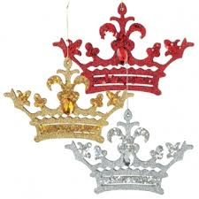 crown ornament gold blue black silver pink mardi gras