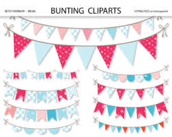 shabby chic digital bunting clipart clip art floral clipart for