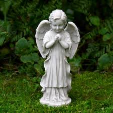 boy cherub praying garden ornament cherub statues