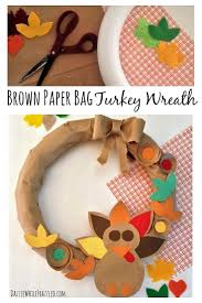 245 best diy crafts and home decor images on pinterest funky create a diy thanksgiving turkey front door wreath from a brown paper bag and colorful cardstock