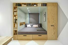 stylish bedroom design for teenager with multifunctional box