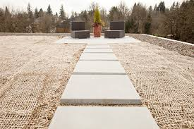 green roof deck modern with flat roof resin landscaping rocks and