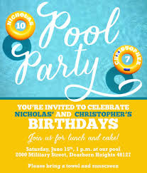 105 Best Anna U0027s 3rd by Swimming Pool Party Invites Free Printable Invitation Design