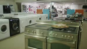 kitchen appliance store 4k white goods and electronics appliance store stock footage video