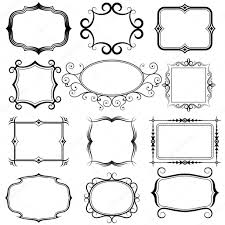 ornate vector frames and ornaments stock vector alisher 14129273