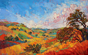 quilted color painting by erin hanson