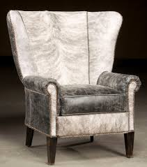 High Back Accent Chair High Back Accent Chair Hair Hide And Distressed Leather
