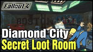 fallout 4 diamond city secret loot room location youtube