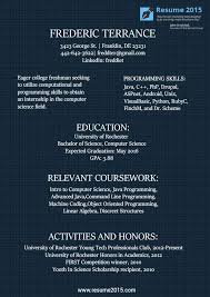 College Freshman Resume Samples by 19 Best Resume 2015 Images On Pinterest Resume Templates Sample