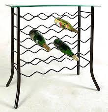 iron wine rack table top u2013 tiathompson me