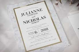 Invitations For Weddings Marble Wedding Invitations With Gold Accents Impressions