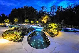 pool and landscape design christmas lights decoration