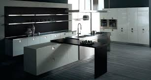 blue and brown kitchen pictures modern galley kitchen design blue