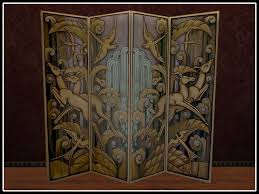 second life marketplace re art deco folding screen room
