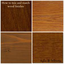 how to mix and match wood stains like oak cherry maple and