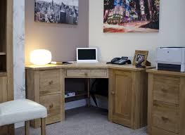 Modern Corner Desks by Kingston Solid Modern Oak Furniture Office Corner Pc Computer Desk