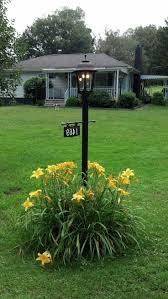 backyard lamp post home combo