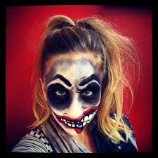 halloween scary deranged evil insane crazy clown make up