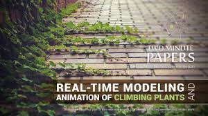 real time modeling and animation of climbing plants two minute