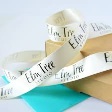 imprinted ribbon business branded 25mm personalised printed ribbon business gift