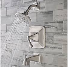 pfister selia kitchen faucet brushed nickel selia 1 handle tub handshower complete with