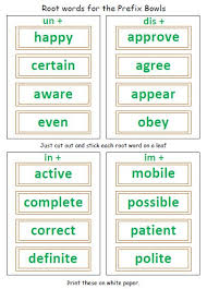 prefixes suffixes and roots 40 printable page answer keys