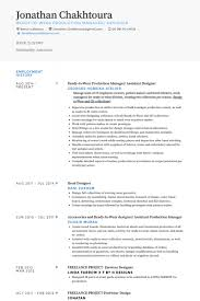 Design Resume Sample by Assistant Designer Resume Samples Visualcv Resume Samples Database