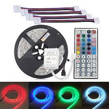 fry s led light strips zdm not waterproof 5m 5050 300 rgb led strip light with 44key ir