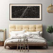 Bedroom Wall Framed Art Framed Art Constellation Art Star Map Print Panoramic Star