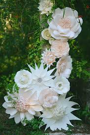 Make Your Own Paper Flowers - giant paper flower wedding inspiration 100 layer cake