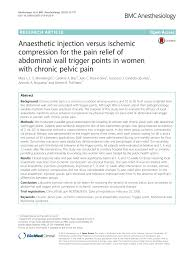 anaesthetic injection versus ischemic compression for the pain