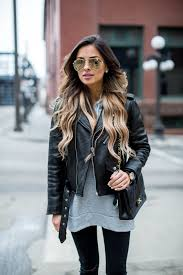 asos gray hoodie kate spade new york leather jacket topshop