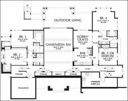 single house plans with basement one floor plans with basements